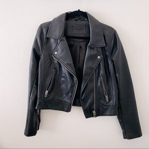 Vegan Leather Moto Biker Jacket